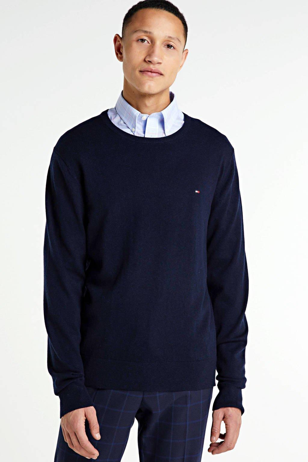Tommy Hilfiger trui met wol donkerblauw, Donkerblauw