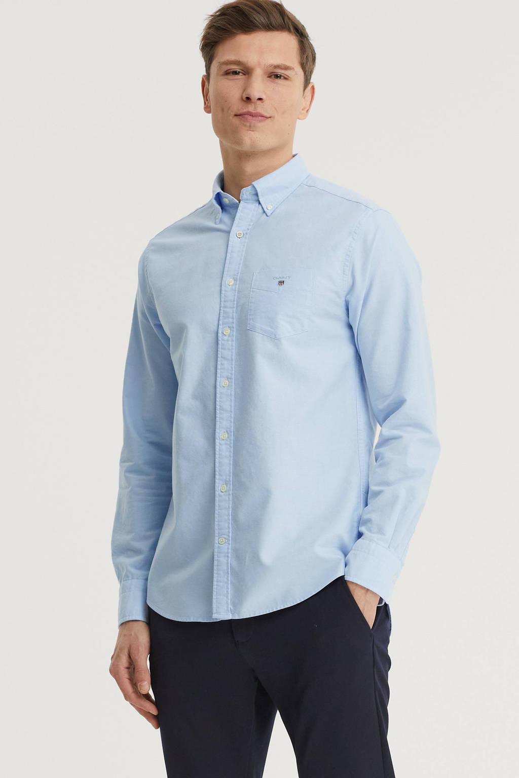 GANT regular fit overhemd lichtblauw, Lichtblauw