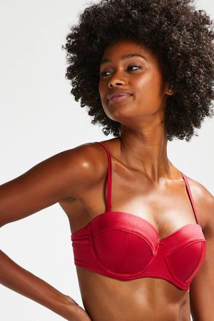 voorgevormde strapless beugel bikinitop Lola rood