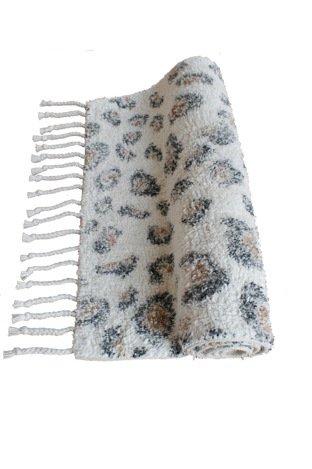 À la badmat Luipaard (80x50 cm) Off white, Dierenprint