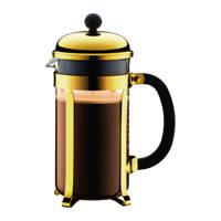 Bodum cafetière Chambord Goud (1 liter), Goudkleurig