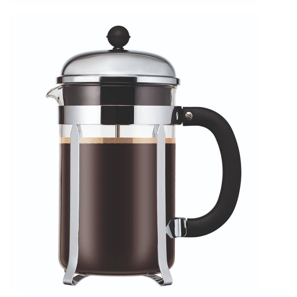 Bodum cafetière Chambord RVS (1 liter), Zilverkleurig