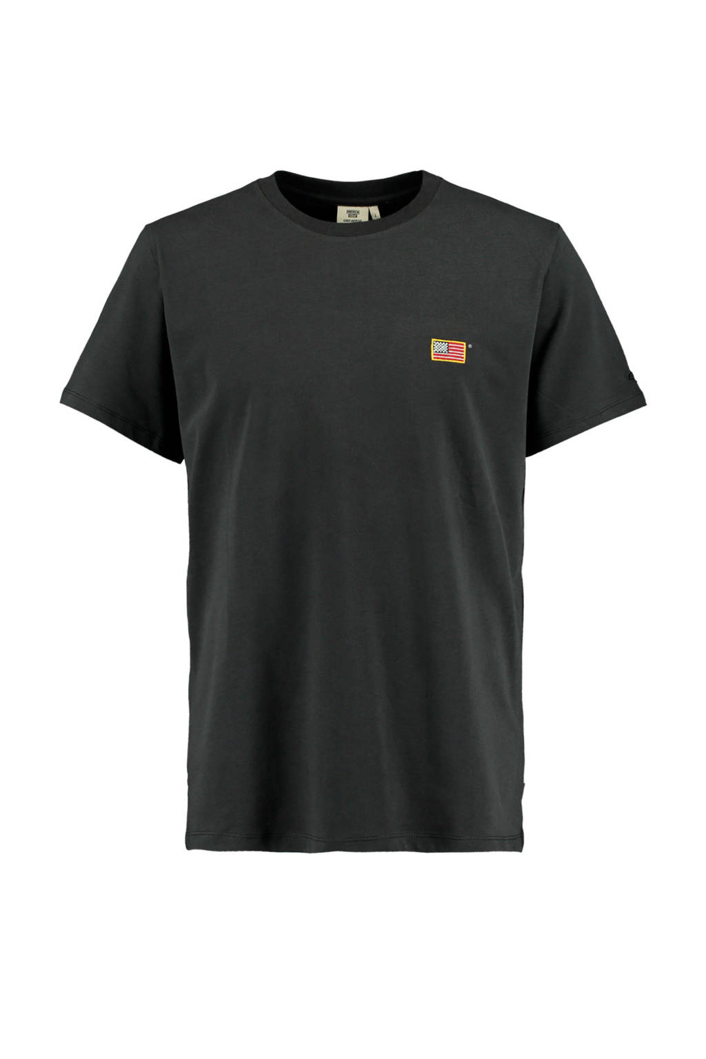 America Today T-shirt Edgar gewassen zwart, Gewassen zwart