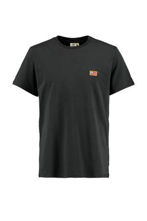 T-shirt Edgar gewassen zwart