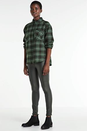 geruite blouse Bobby groen/zwart