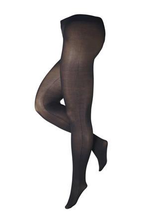super curvy + size panty Zigzag 50 denier zwart