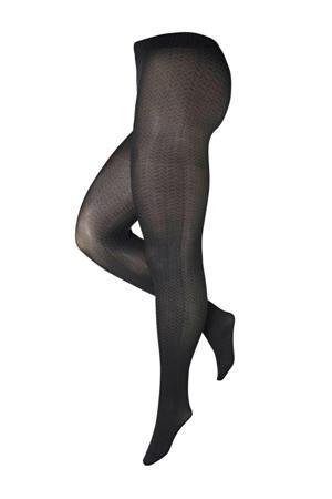 super curvy + size panty Herringbone 50 denier antraciet