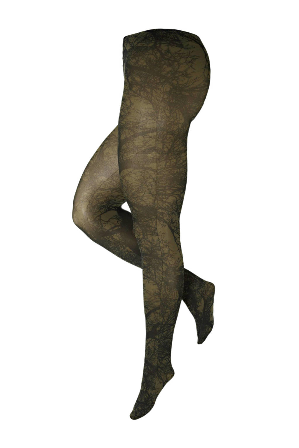 Pamela Mann super curvy + size panty Tree 50 denier olijfgroen, Olijfgroen
