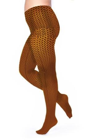 super curvy + size panty Herringbone 50 denier cognac