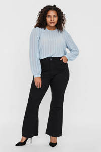 VERO MODA CURVE flared jeans VMSHINY zwart, Zwart