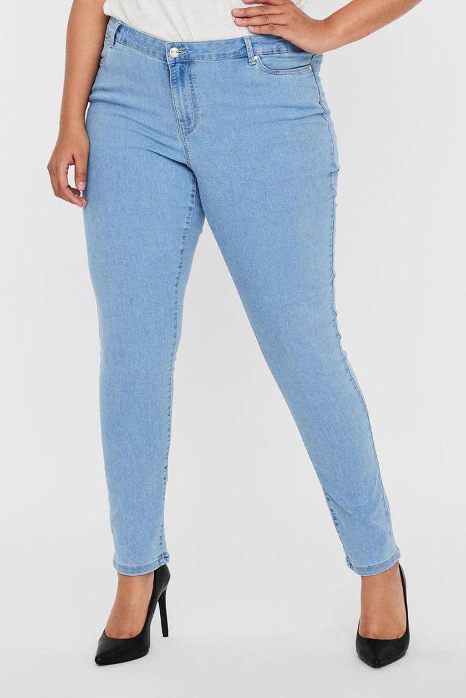 VERO MODA CURVE skinny jeans VMJUDY light blue denim, Blauw