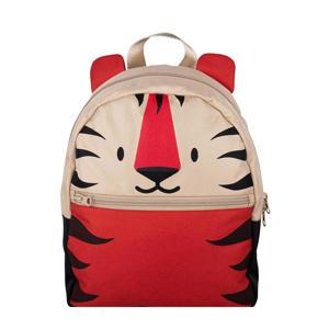 rugzak Fauna Tiger beige/rood