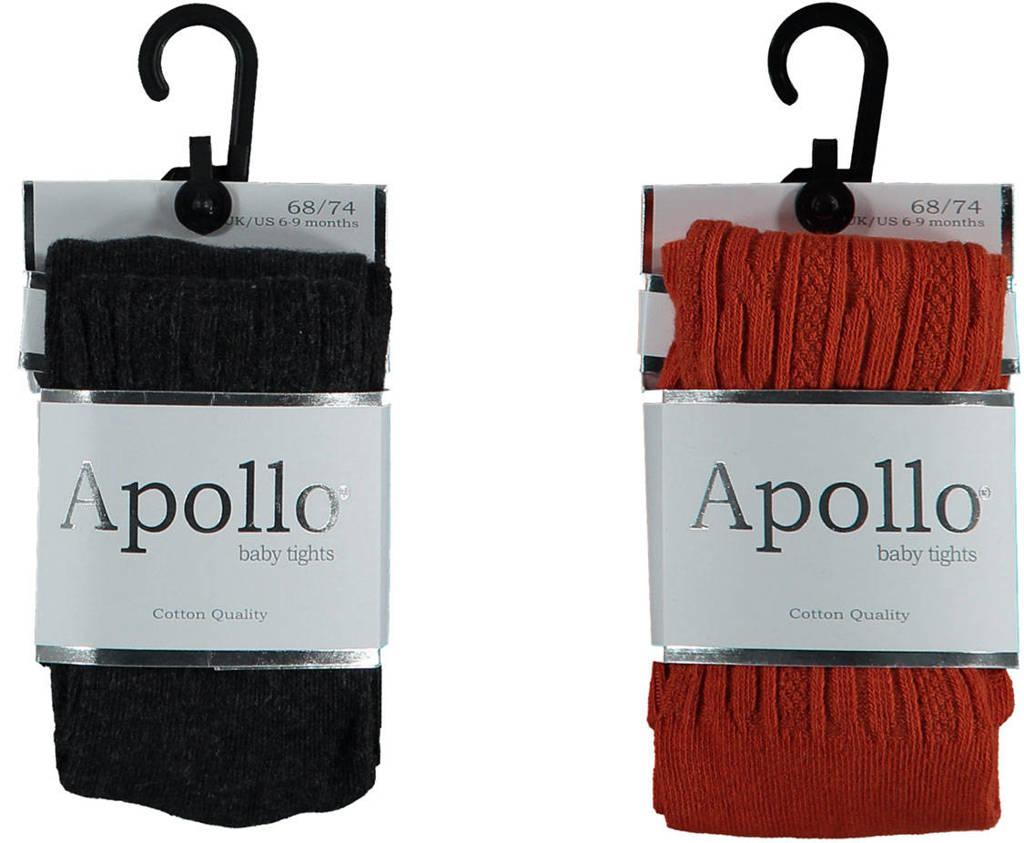 Apollo maillot - set van 2 donkerrood/zwart, Donkerrood/zwart