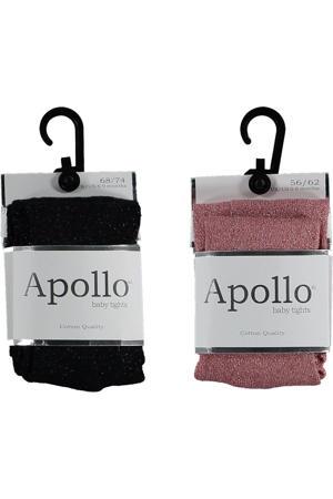 maillot - set van 2 glitters oudroze/zwart