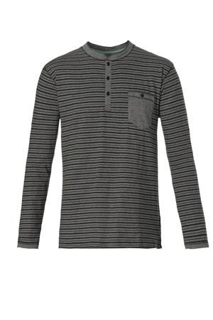 gestreepte pyjamatop grijs/donkergrijs