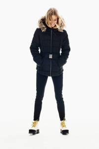 Garcia gewatteerde jas met ceintuur zwart, Zwart