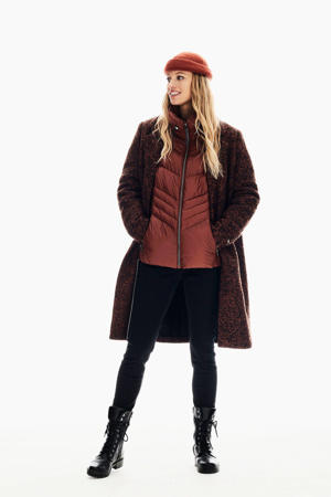 gemêleerde coat brandy brown