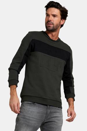 sweater Arend met logo donkergroen