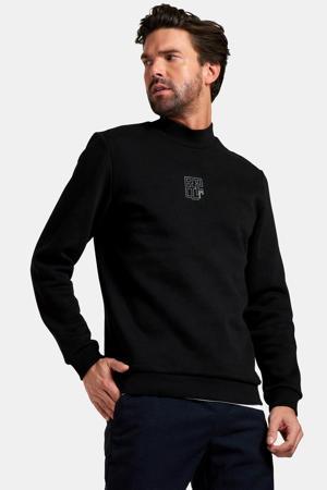 sweater Arjen met logo zwart