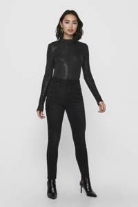 ONLY body Lilian met lage rug en pailletten zwart, Zwart