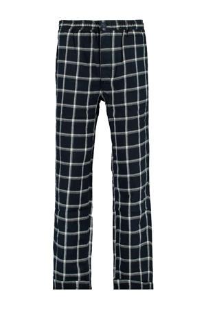 pyjama broek donkerblauw/wit