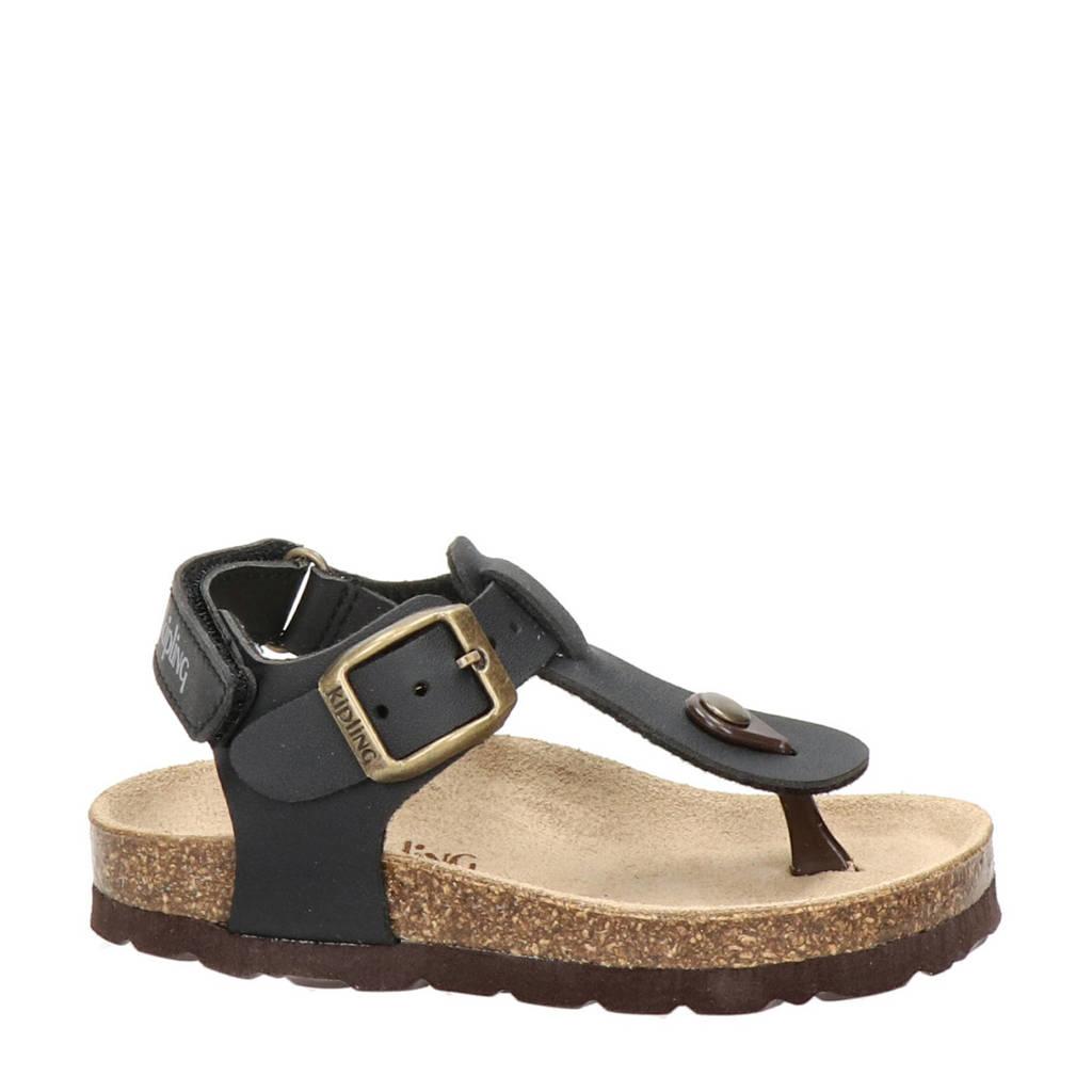 Kipling Juan 3  sandalen zwart, Zwart