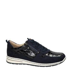 Sapporo comfort veterschoenen donkerblauw