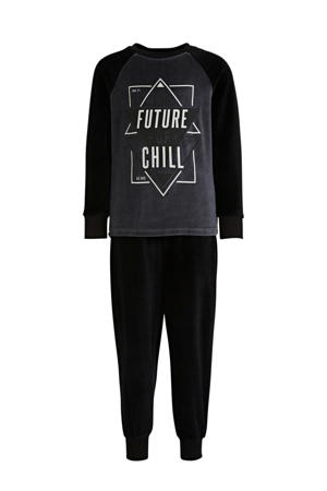 pyjama tekstopdruk zwart