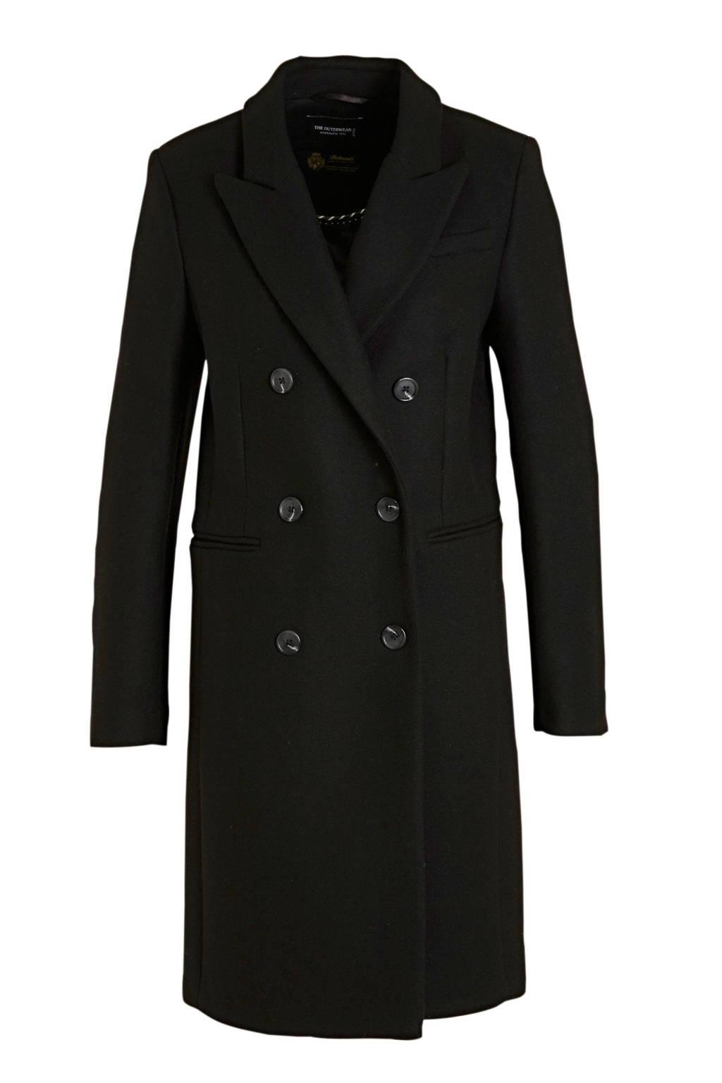 C&A The Outerwear coat met wol zwart, Zwart