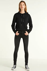 Saint Tropez fijngebreide hoodie Aditha zwart, Zwart
