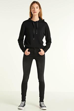 fijngebreide hoodie Aditha zwart