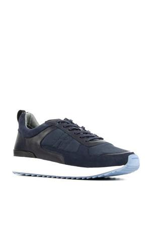 UG36  suède sneakers donkerblauw