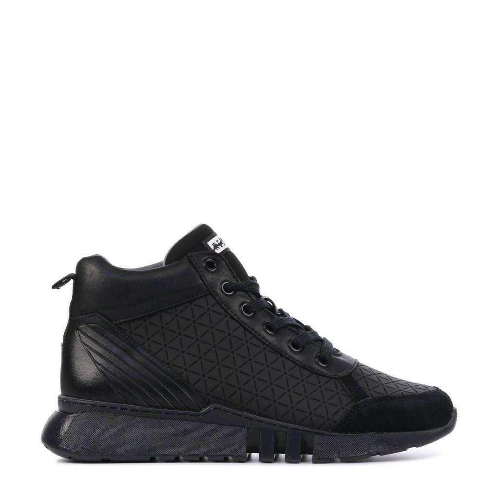 Red Rag 13235  hoge leren sneakers zwart, Zwart