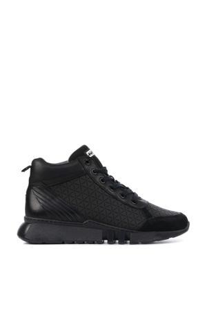 13235  hoge leren sneakers zwart
