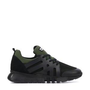 13243  sock sneakers groen/zwart
