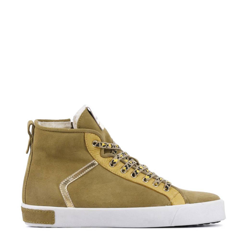 Blackstone UL74  hoge suède sneakers camel, Camel