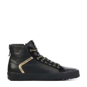 UL74  hoge leren sneakers zwart/goud