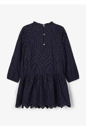 jurk Nalla met plooien donkerblauw