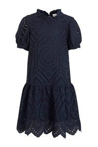 NAME IT KIDS jurk Denisa met ruches donkerblauw, Donkerblauw