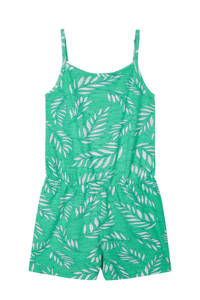 NAME IT KIDS jumpsuit Jiselle met all over print groen/grijs, Groen/grijs