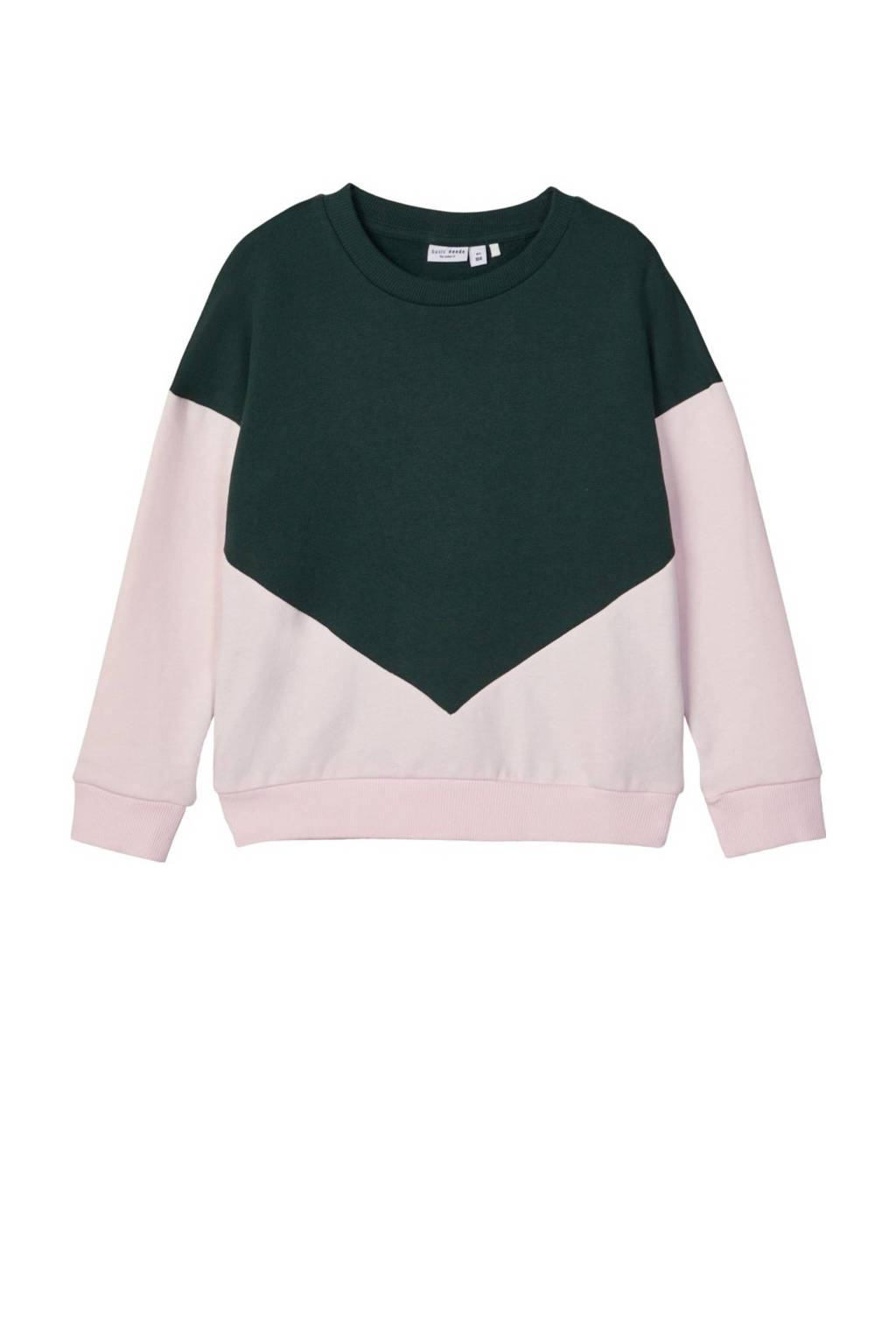 NAME IT KIDS sweater Wioletta paars/roze, Paars/roze