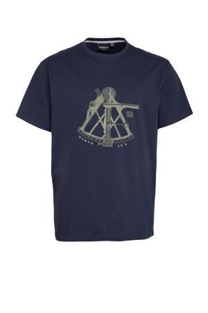 +size T-shirt Plus Size met printopdruk donkerblauw