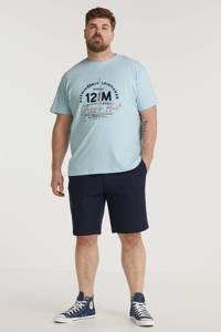 North 56°4 +size T-shirt Plus Size met printopdruk lichtblauw, Lichtblauw
