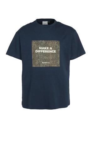 +size T-shirt Plus Size van biologisch katoen donkerblauw