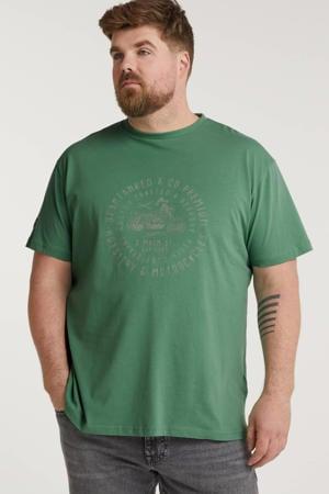 +size T-shirt met printopdruk jade