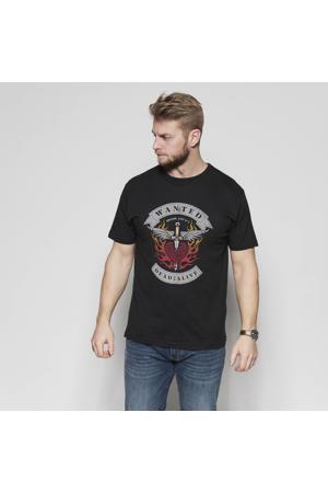 +size T-shirt Bon Jovi met printopdruk zwart