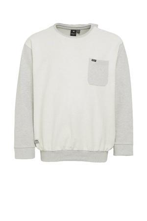 +size sweater lichtgrijs