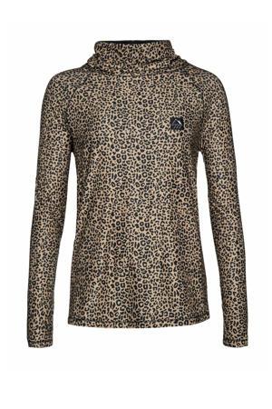 thermo shirt Trish zwart/bruin