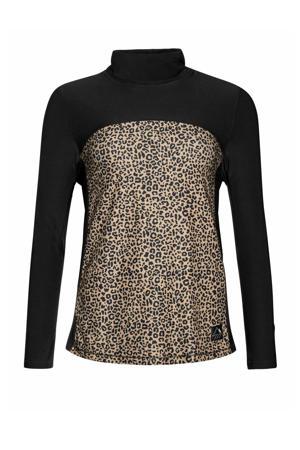 thermoshirt Wanda zwart/bruin