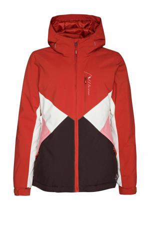 ski-jack Kelis rood/zwart